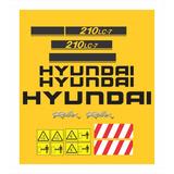 Kit Adesivos Hyundai Escavadeira Hidráulica 210 Lc