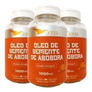 Kit 3x Óleo De Semente De Abóbora Cucurbita 1000mg 80caps