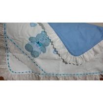 Manta De Bebê Em Fustão Bordada Em Patch Aplique