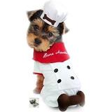 Disfraz Para Perro Chef Apetito Del Hueso Labró Uniforme De
