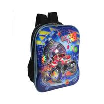 Mochila Infantil Escolar Carros 3d Relâmpago Mcqueen Costa
