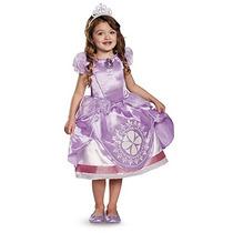 Disfraz Princesa Sofia Para Niña Talla L - Morado