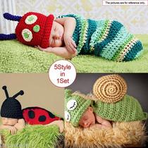 Venta Recién Nacido Chicas Chicos Crochet Knit Traje Foto...