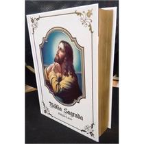 Bíblia Sagrada Católica Capa Branca - Ed. Luxuosa