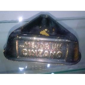 Antiguo Cenicero Coleccionable Con Propaganda Cinzano