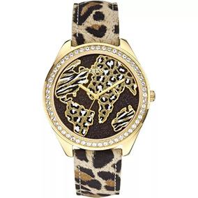 Relógio Guess Safari Dourado Marrom 92545lpgtdc2 + Brinde
