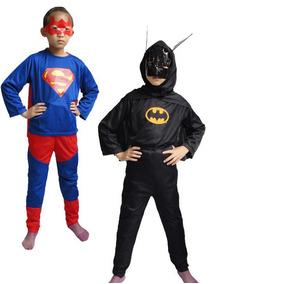 Fantasia Infantil Homem Aranha Batman Super Homem