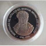Moneda Venezuela 500 Bs 1995 Plata Conmemorativa Sucre Proof