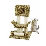 Casa Para Gatos Y Rascador Go Pet Club Modelo F12