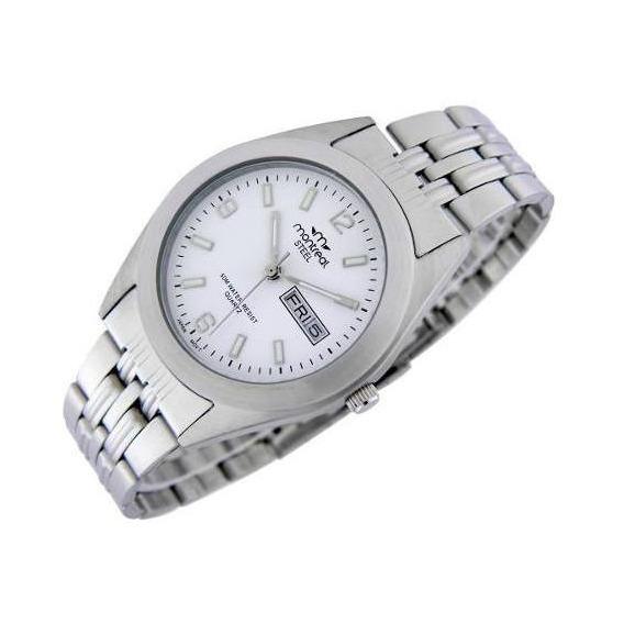 Reloj Montreal Hombre 100%acero Ml295 Calendario Sumerg