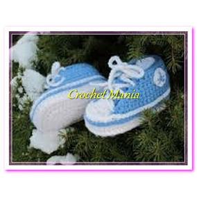 Zapatos Tejidos A Crochet Tipo Tenis Conver