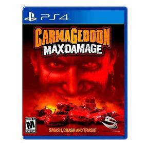 Jogo Carmageddon: Max Damage Ps4 Novo Lacrado + Brinde