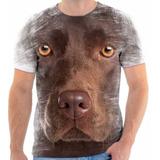 Camisa Camiseta 3d Cachorro Dog Labrador Marrom Chocolate