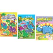 Libro Dinosaurios Preescolar Primaria Colorear Infantil Niño