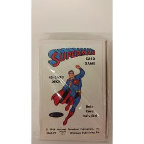 Juego De Baraja Superman Antiguo 45 Cartas Reproduccion
