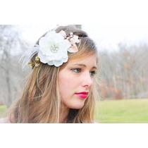 Hermosas Coronas Flores Perlas Y Cristales Novia Vintage
