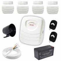 Sistema De Alarme Com 4 Sensores Sem Fio- Alarme Residencial