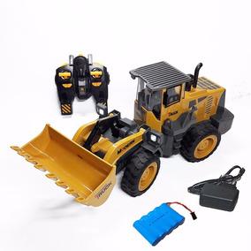 Trator Pá Carregadeira 40 Cm Controle Remoto 8 Funções