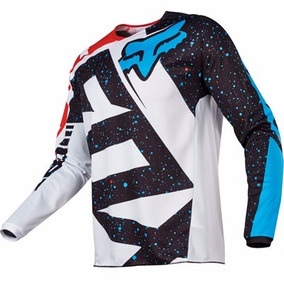 Jersey Fox 180 Nirv Red White Motocross Atv Talla M