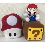 Set Mario Bros + Honguito + Cubo ? 3 Peluches Envio Gratis!