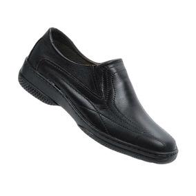 Sapato Social Masculino Couro Cor Preto Barato Sola Costurad