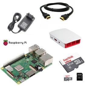 Kit Raspberry Pi 3 B+ Plus - Cartão 32gb - Fonte -case -hdmi