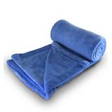 Cobertor Manta Microfibra Solteiro Azul - Linha Avulsa