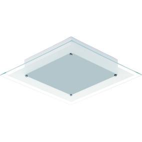 Plafon Quadrado Para Quarto Ou Sala - Blanc (2 Lâmp.)