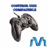 Control Usb Para Video Juego Compatible Pc Ps3 Cable Negro