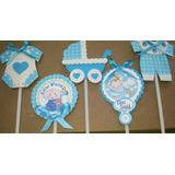 Topper Por Docena Baby Shower Niño Cupcake Candybar Ponques