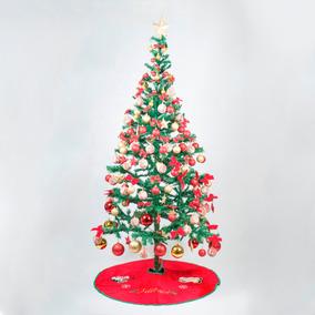 Árvore Natal 1,5m Decorada Com 217 Enfeites Natalinos