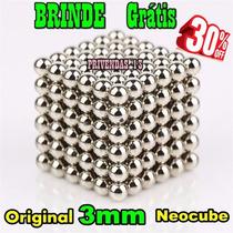 Neocube Cubo Magnético 216 Esferas Prateado Imã Neodímio