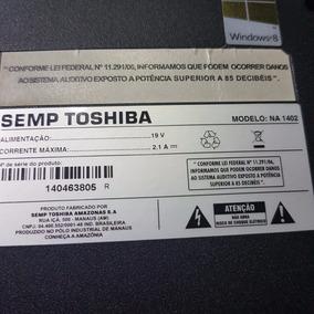 Carcaça Com Teclado De Notebook Semp Toshiba Na 1402