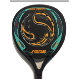 Paleta De Padel Sane Ips Total Carbon Rugosa 38mm Eva Soft
