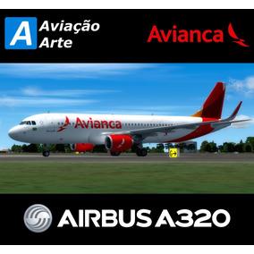 Aeronave Fsx - Frota Avianca Brasil - Airbus A320