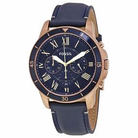 Reloj Fossil Fs5237 Grant Sport Cronograph Azul Caballero*