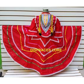 Disfraz Vestido Jalisco Rojo Vestuario Independencia Niña R8