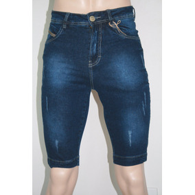 Bermuda Jeans Masculina Kit 3 Peças