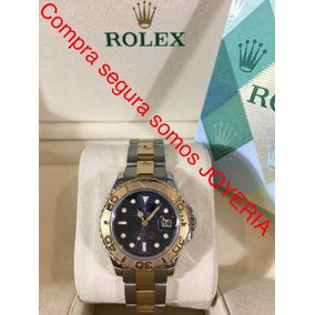 Rolex Yachtmaster Dama Oro 18k Y Acero Con Caja Y Papeles