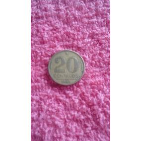 Moeda 20 Centavos Autografada 1943