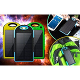 Power Bank Solar 20800mah 2 Usb Luz Led Resiste Agua Y Polvo