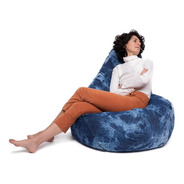 Puf Pera De Jean Con Batik Calma Chicha