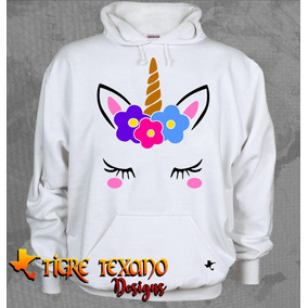 Sudadera Unicornio Chapitas Uni-04 By Tigre Texano Designs