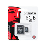 Memoria Kingston Micro Sd 8gb Clase 4