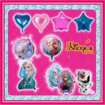 Paquete 2 De 37 Globos De Frozen Ana Y Elsa.envio Gratis