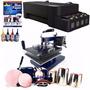 Kit Sublimação Prensa 8x1 110v E 220v + Impressora + Papel