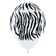 Globos Premium Zebra Bolsa Con 50 Piezas