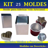 Kit 25 Moldes P/fabricar Velas Artesanais ( +6 Brindes )