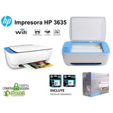 Impresora Hp Wifi 3635 Multifuncional Imprime Copia Escanea
