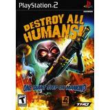Jogo Ps2 - Destroy All Humans - Frete Grátis